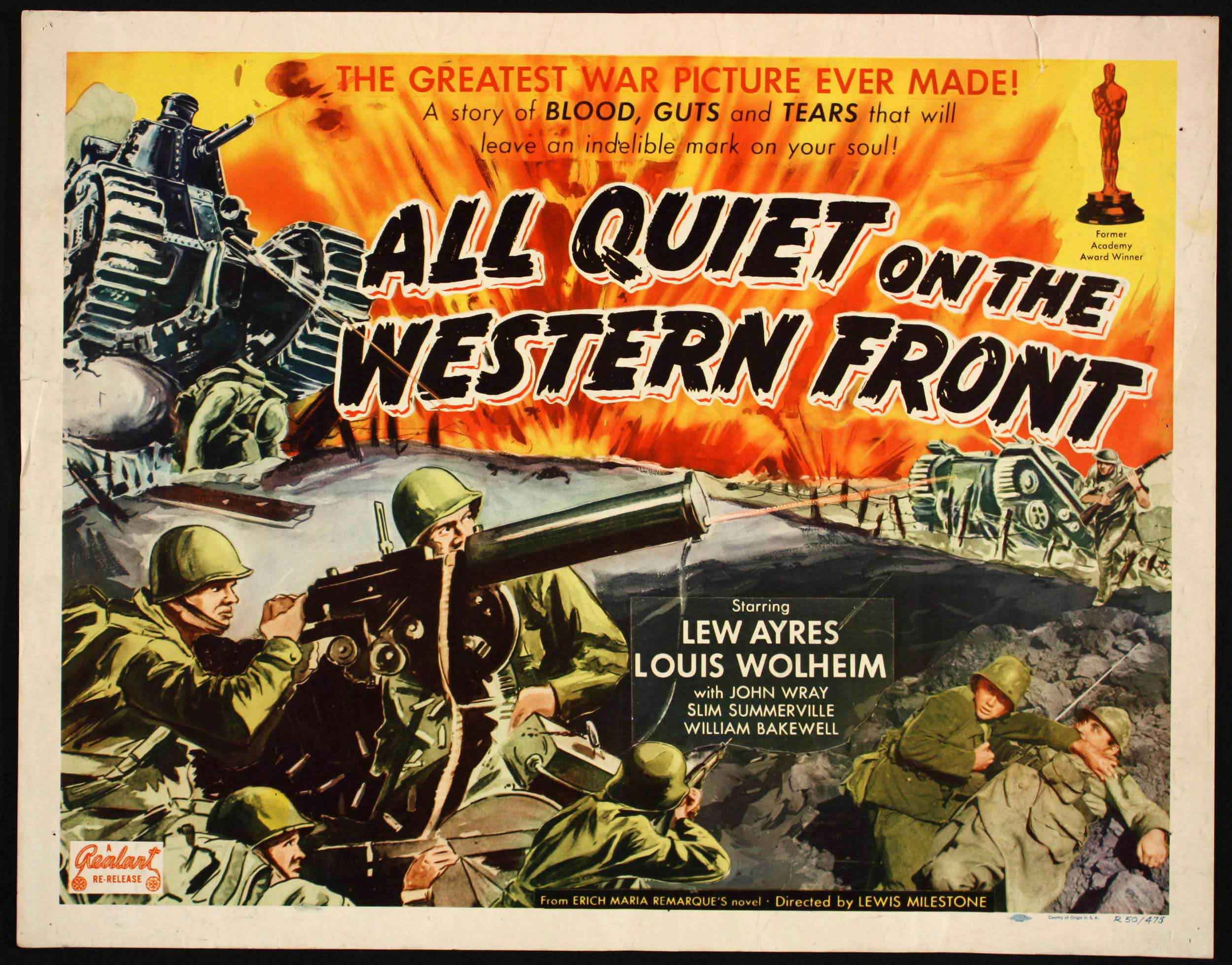 all quiet western front movie and book All quiet on the western front by remarque erich maria and a great selection of similar used, new and collectible books available now at abebookscom.