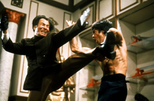 Enter the Dragon feature - Bruce Lee, Shih Kien, fight