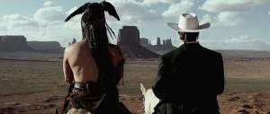 Lone Ranger - Depp, Hammer, Monument Valley