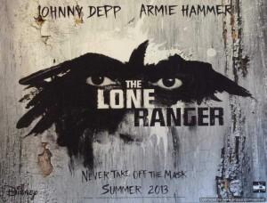 Lone Ranger - Depp, Hammer, Quad poster