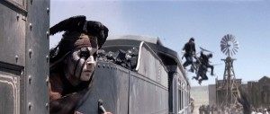 The Lone Ranger - Depp, train jumpers