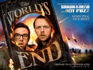 The World's End quad poster - Pegg, Frost, Wright