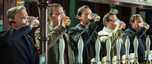 World's End - Pegg, Frost, Freeman, Marsan, Considine - necking pints