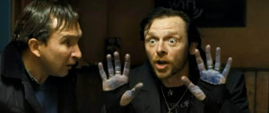 World's End - Pegg, Marsan, blue hands