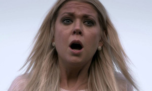 Sharknado - Tara Reid mouth open