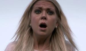 Sharknado - Tara Reid mouth open