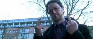 Filth - James McAvoy - giving the finger