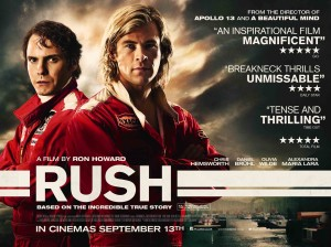 Rush - quad poster, Hemsworth, Bruhl, Howard