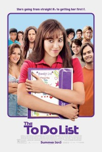 The To Do List - Aubrey Plaza poster sex comedy