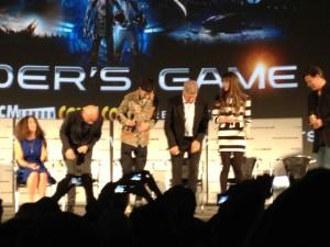 Ender's Game Q&A - Harrison Ford, Asa Butterfield, Ben Kingsley, Gavin Hood, Gigi Pritzker, cast sitting down