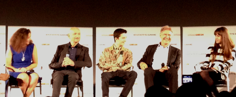 Ender's Game Q&A - Harrison Ford, Hailee Steinfeld, Asa Butterfield, Ben Kingsley