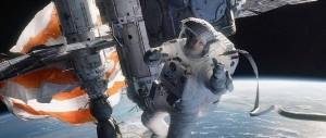 Gravity - Sandra Bullock, space station, tether