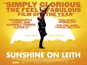 Sunshine on Leith - quad poster