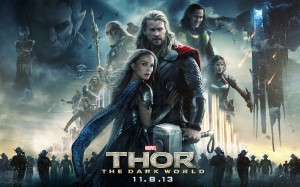 Thor - The Dark World - Chris Hemsworth, Natalie Portman, Tom Hiddleston, quad poster