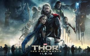 Thor - The Dark World - Chris Hemsworth, Natalie Portman, Tom Hiddleston, quad poster