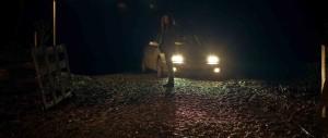 In Fear - Alice Englert in front of car