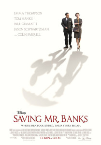 Saving Mr Banks - Hanks, Thompson, UK poster