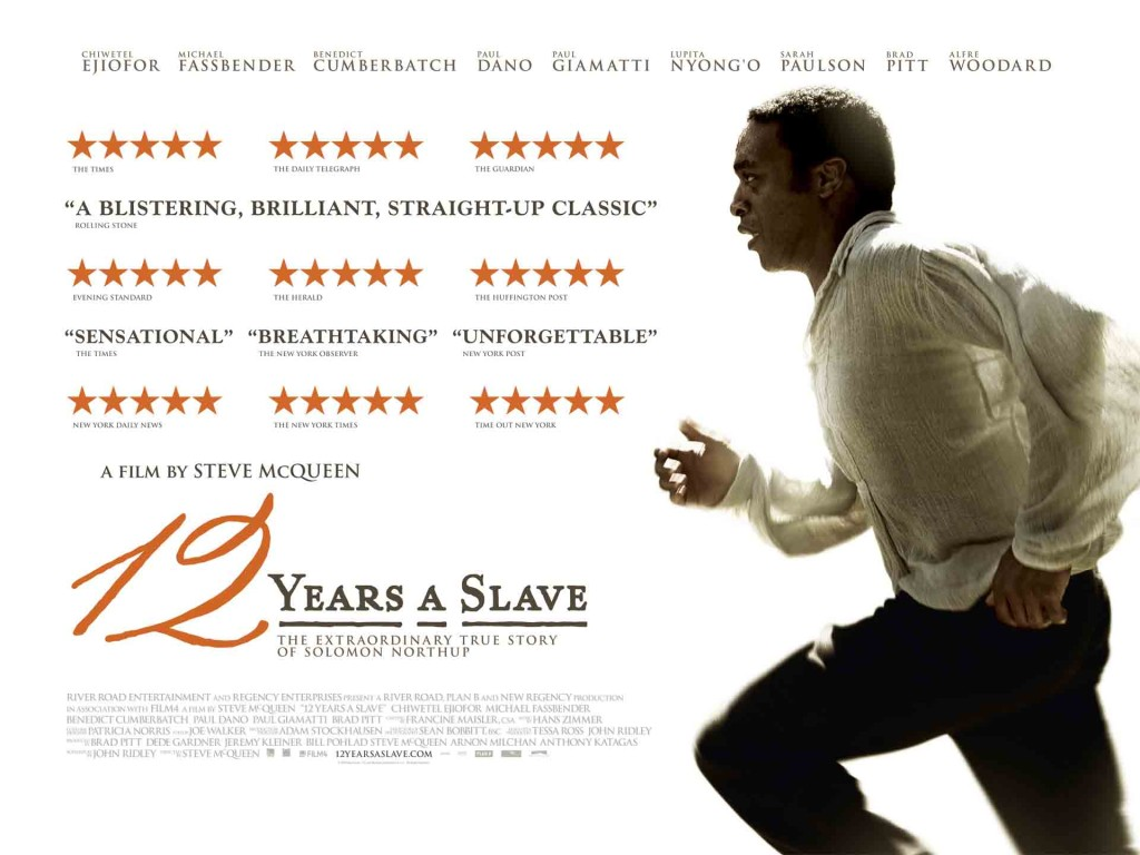 12 Years A Slave - Chiwetel Ejiofor, Michael Fassbender, quad poster