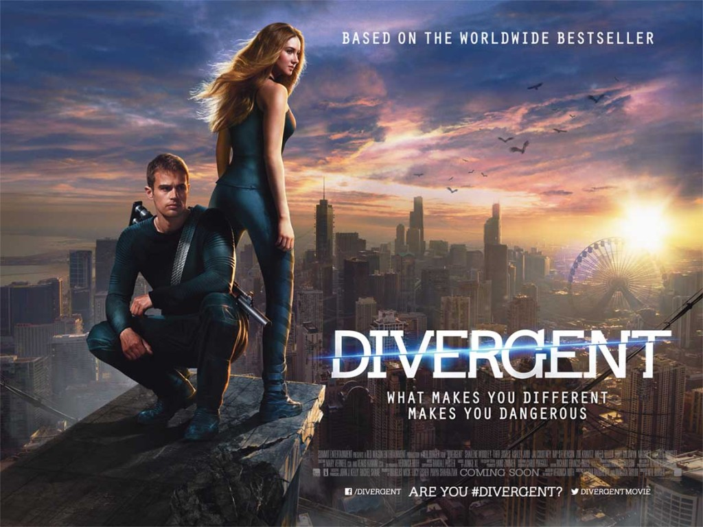 Divergent - quad poster, Shailene Woodley, Theo James