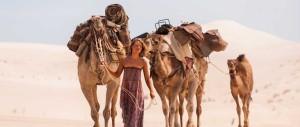 Tracks - Mia Wasikowska, camels, Outback