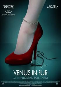 Venus in Fur - Emmanuelle Seigner, Mathieu Amalric, Roman Polanski, poster