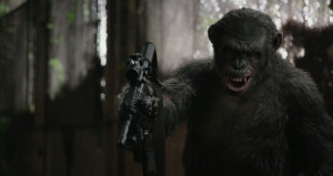Dawn of the Planet of the Apes - Koba, machine gun, Toby Kebbell