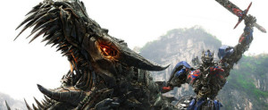Transformers - Age of Extinction - Dinobot, Optimus Prime