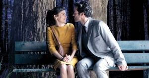 Mood Indigo - Audrey Tautou, Romain Duris, bench