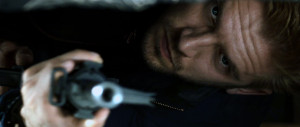 The Guest - Dan Stevens, hiding, gun