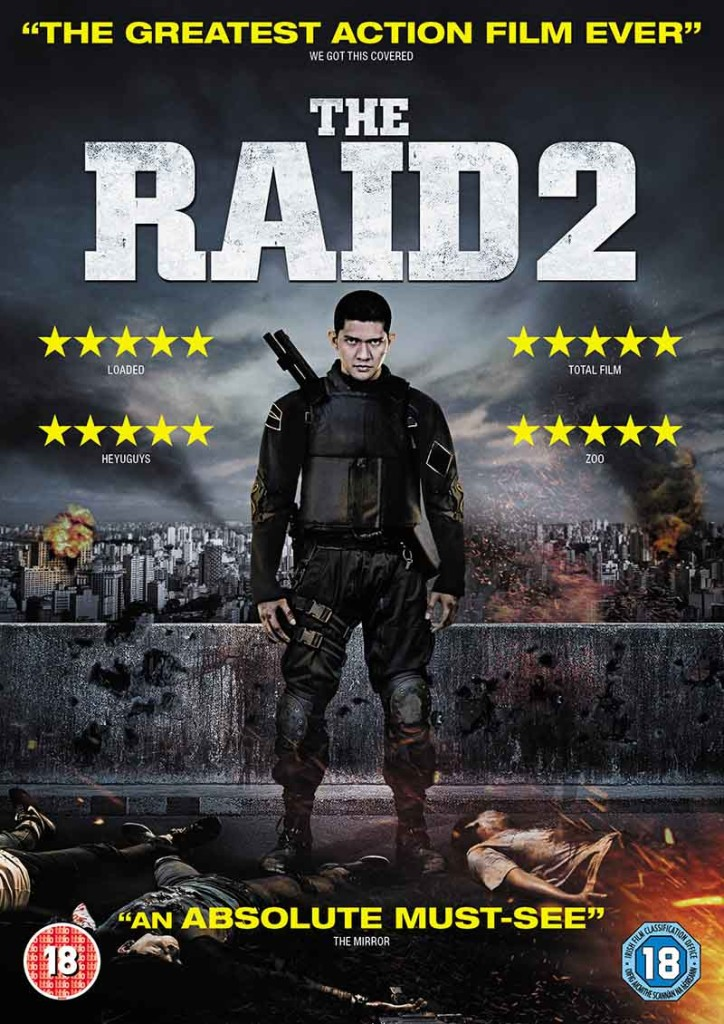 The Raid 2 - DVD cover - Gareth Evans