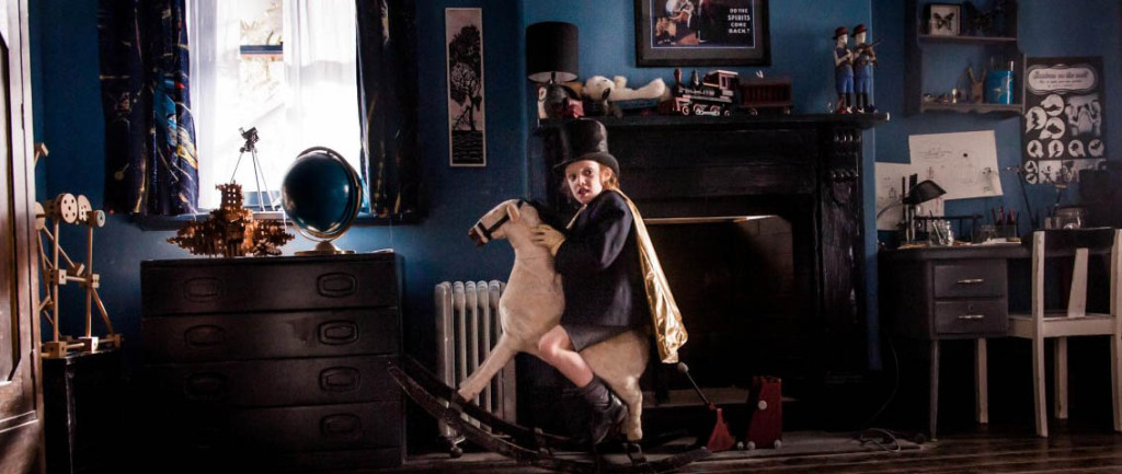 The Babadook - kid on hobby horse