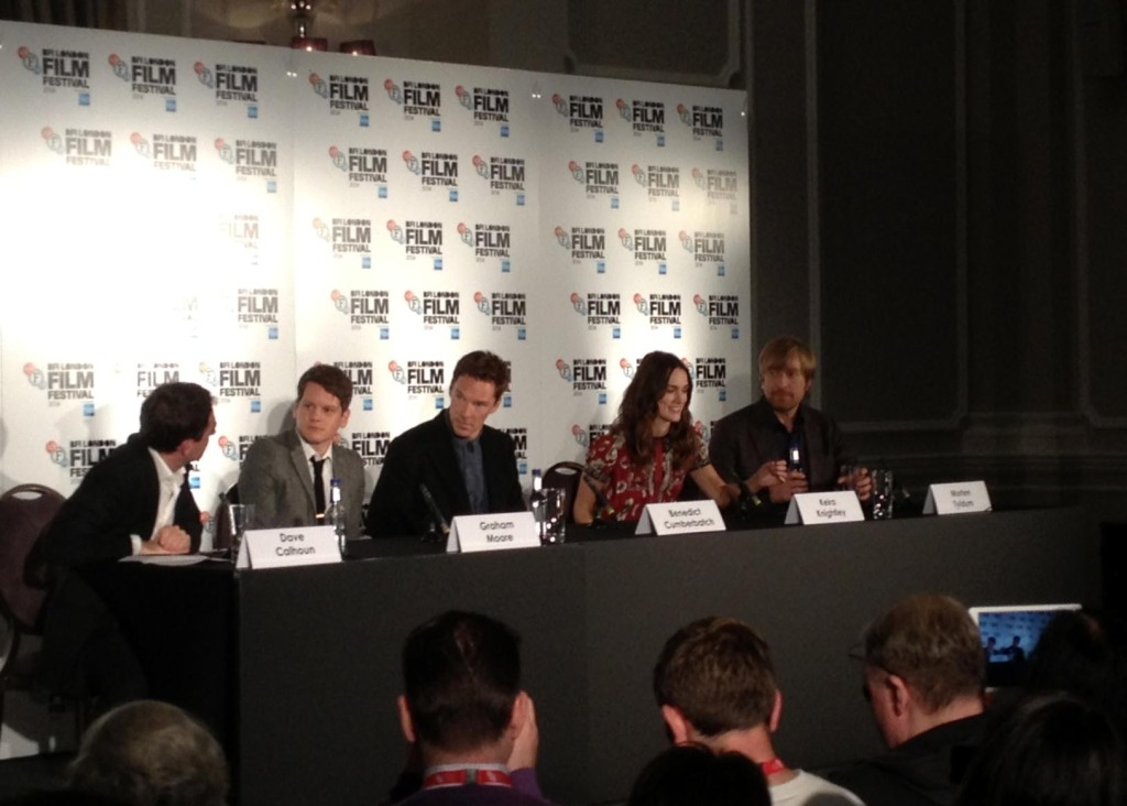 The Imitation Game Press Conference - Benedict Cumberbatch, Keira Knightley, Graham Moore, Morten Tyldum, wide
