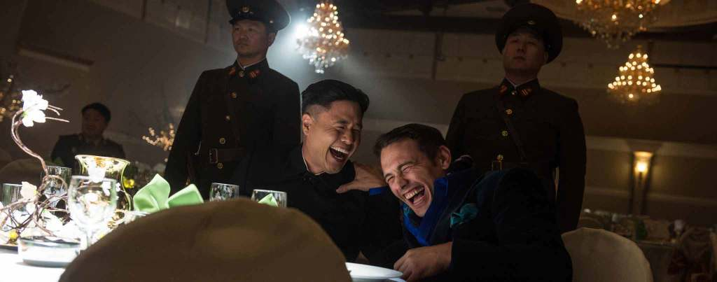 The-Interview---James-Franco,-Randall-Park,-laughing