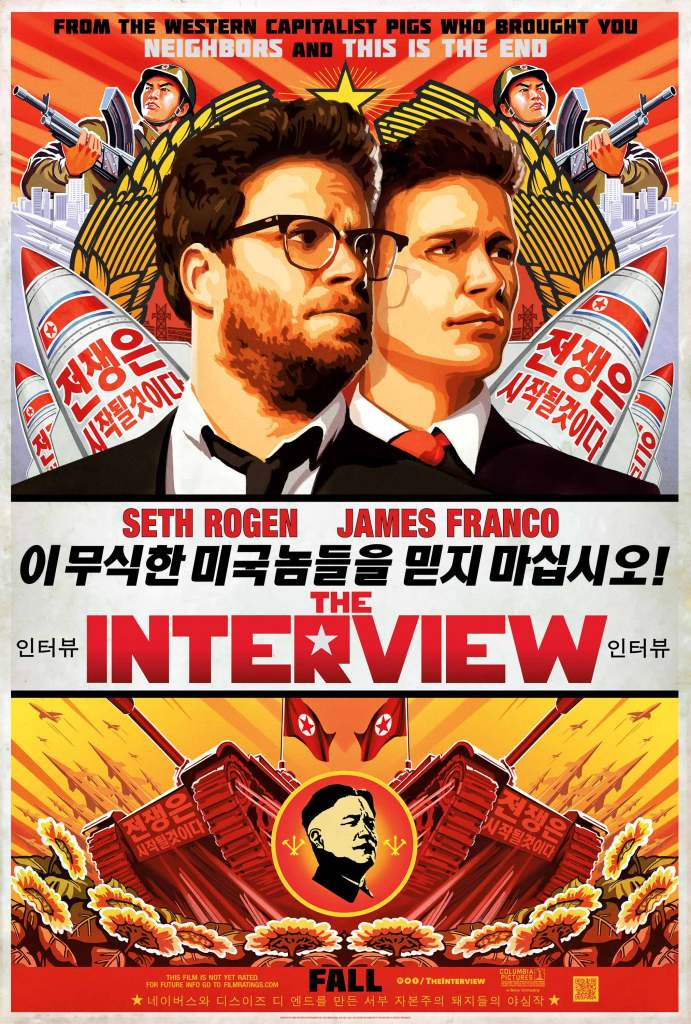 The-Interview---James-Franco,-Seth-Rogen,-poster