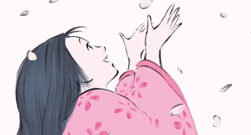 The-Tale-of-Princess-Kaguya---Isao-Takhata,-falling-cherry-blossom