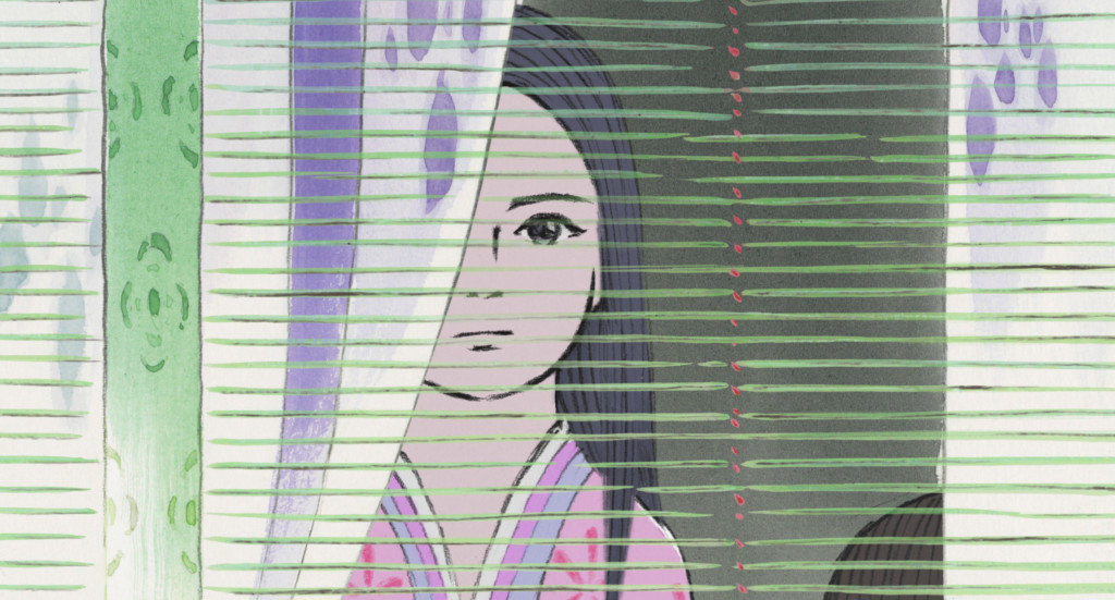 The-Tale-of-Princess-Kaguya---Isao-Takhata,-looking-through-blinds