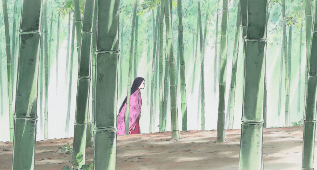 The-Tale-of-Princess-Kaguya---Isao-Takhata,-walking-through-bamboo