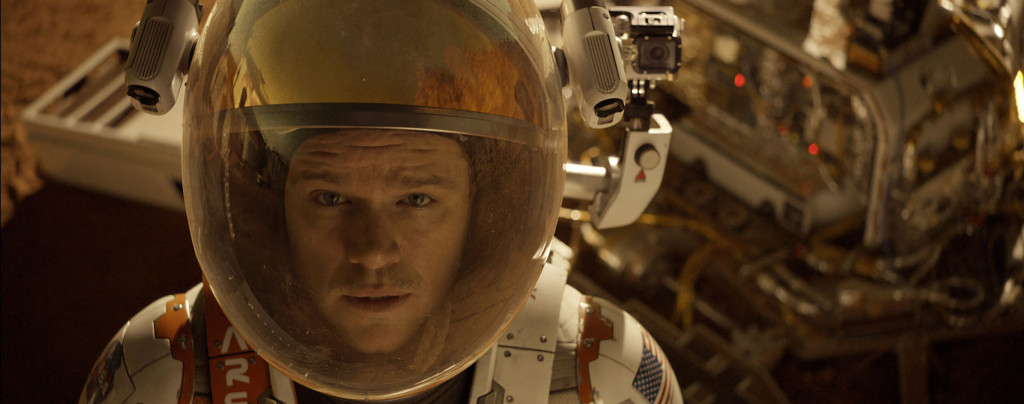 The-Martian---Matt-Damon,-looking-at-camera