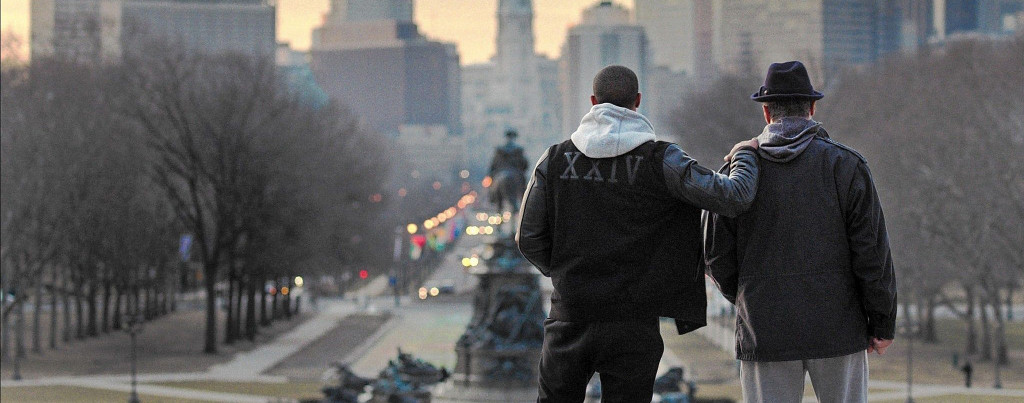 Creed---Stallone,-Jordan,-top-of-the-Rocky-steps