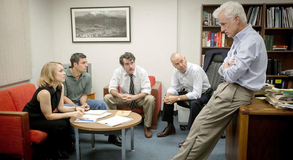 Spotlight---Michael-Keaton,-Rachel-McAdams,-John-Slattery,-Mark-Ruffalo,-Brian-D'Arcy-James