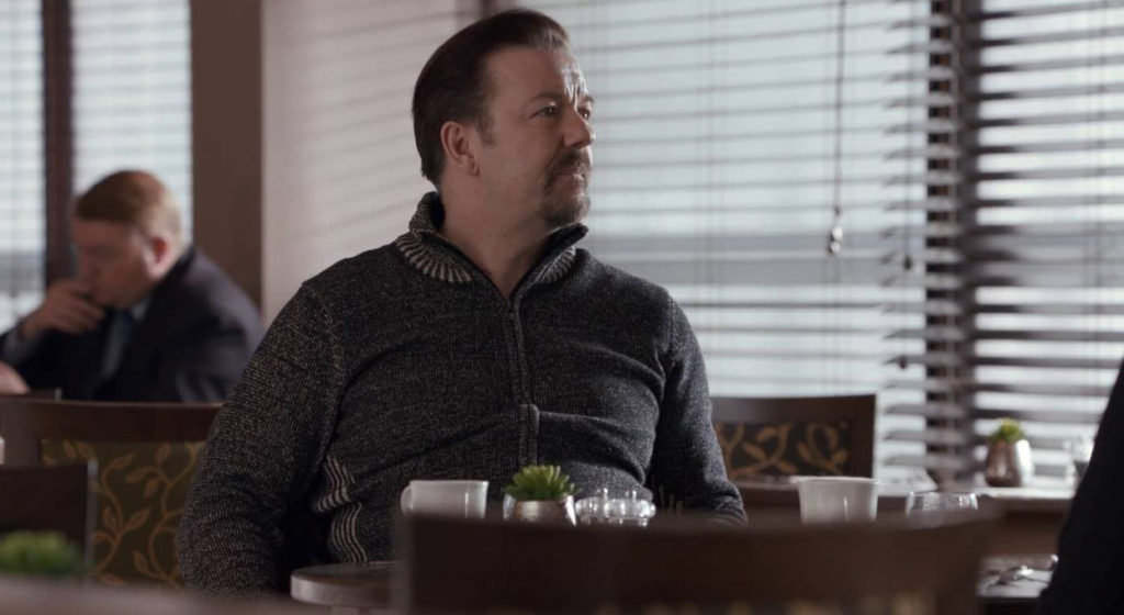 David-Brent-Life-on-the-Road---Ricky-Gervais,-hotel-dining-room