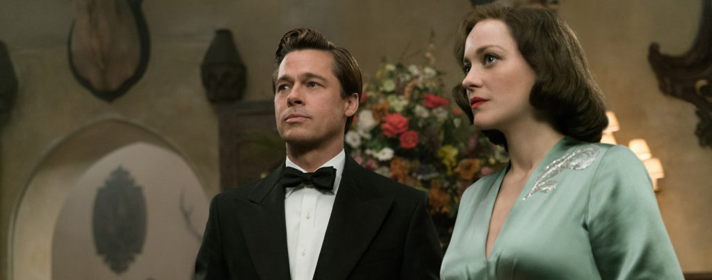 allied-brad-pitt-marion-cotillard-evening-dress